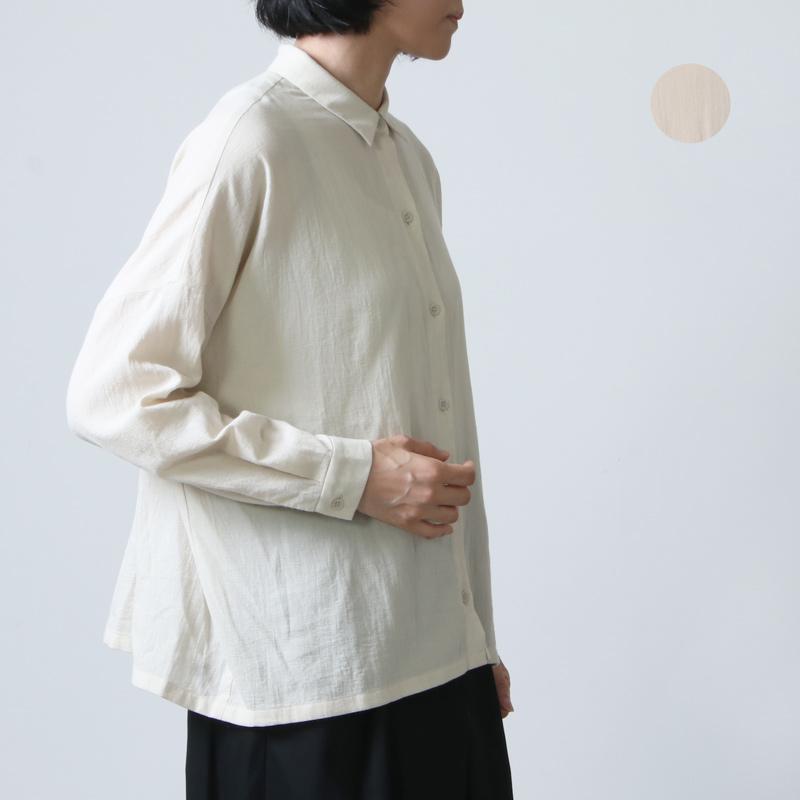 evameva (エヴァムエヴァ) cotton square shirts / コットンスクエアシャツ