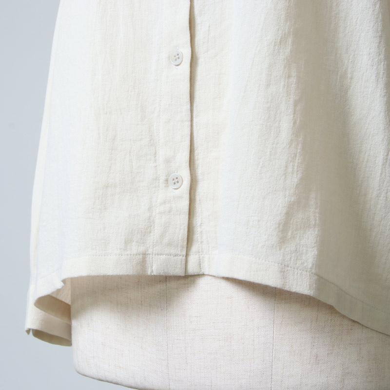evameva(エヴァムエヴァ) cotton square shirts