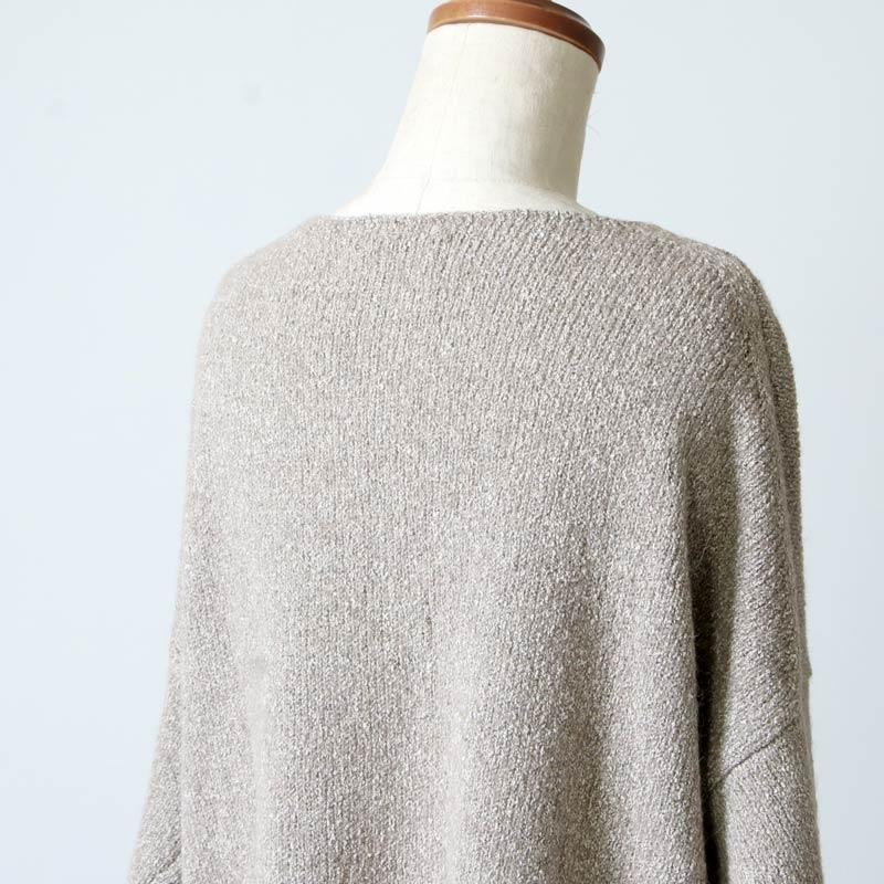 evameva(エヴァムエヴァ) silk alpaca V neck PO