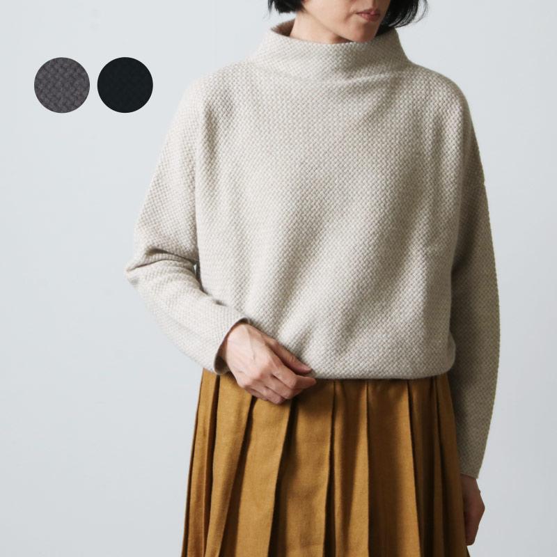 evameva (エヴァムエヴァ) wool angora high necked PO / ウールアンゴラハイネックプルオーバー