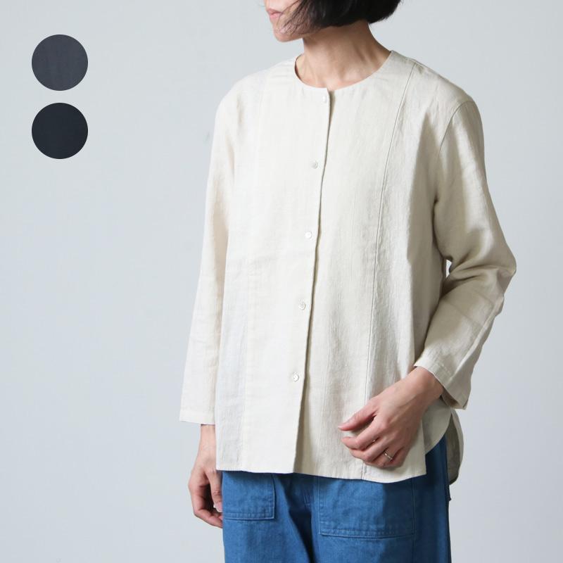 evameva (エヴァムエヴァ) water linen shirts / ウォーターリネンシャツ
