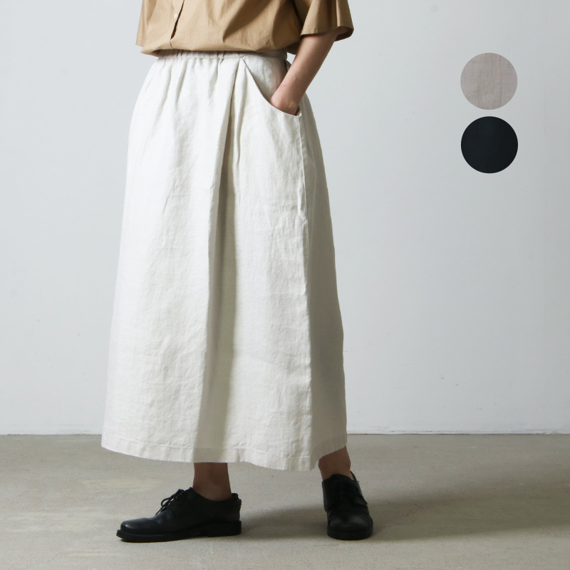 evameva (エヴァムエヴァ) linen skirt / リネンスカート