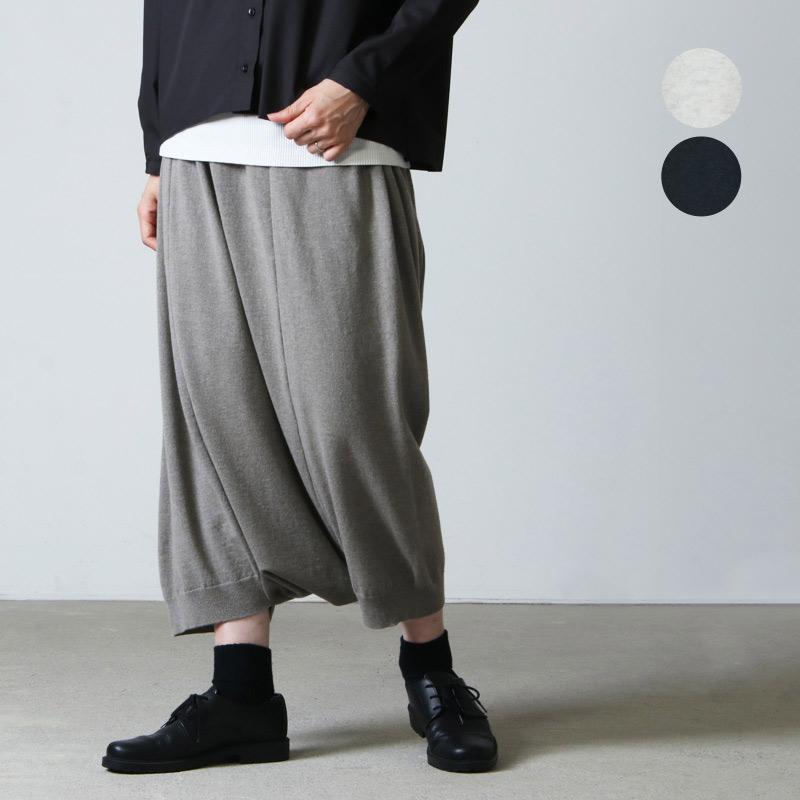 evameva (エヴァムエヴァ) wool sarrouel pants / ウールサルエルパンツ
