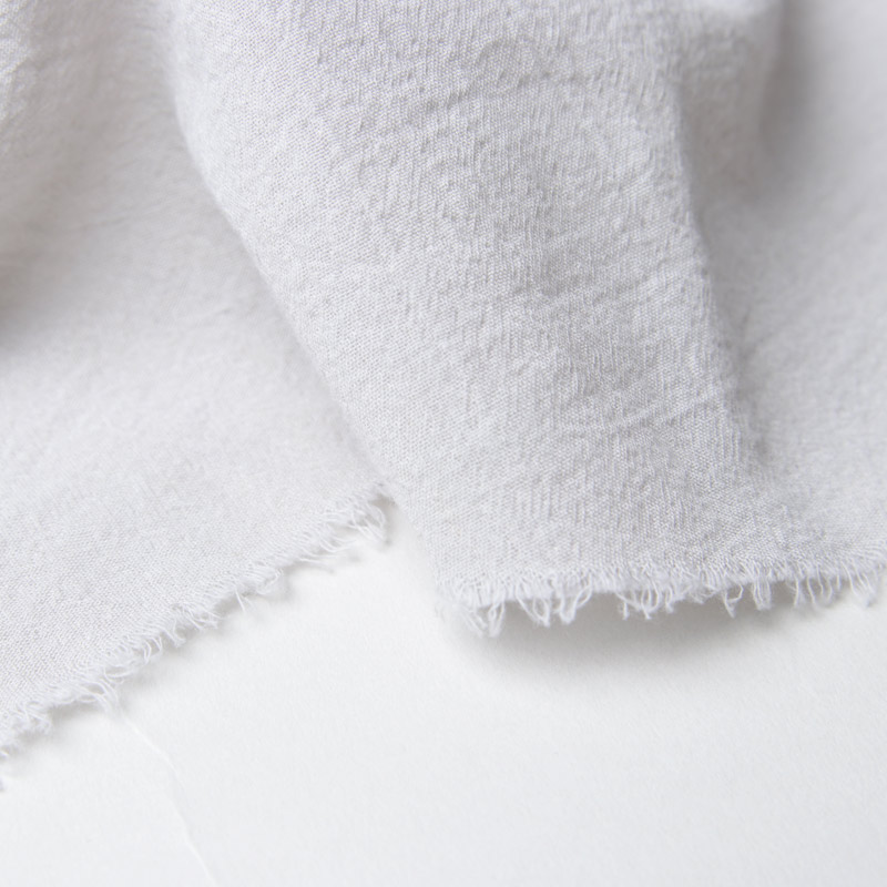 evameva(エヴァムエヴァ) Cotton georgette diagonal stole