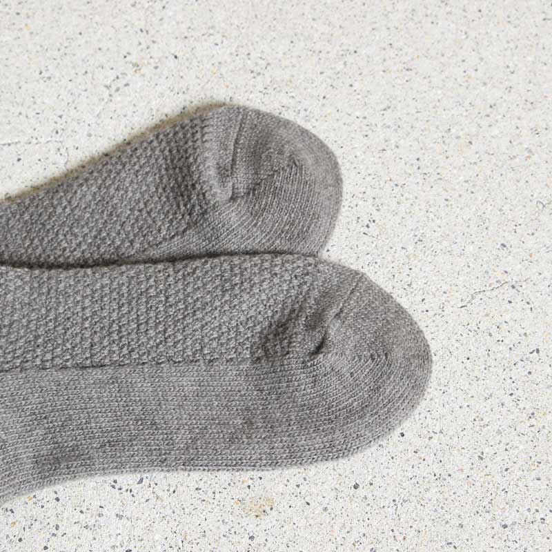 evameva(エヴァムエヴァ) wool cashmere moss stich socks