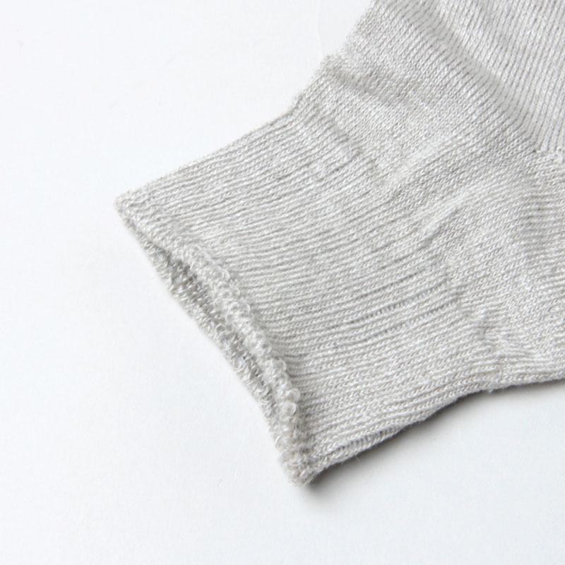 evameva(エヴァムエヴァ) linen short socks