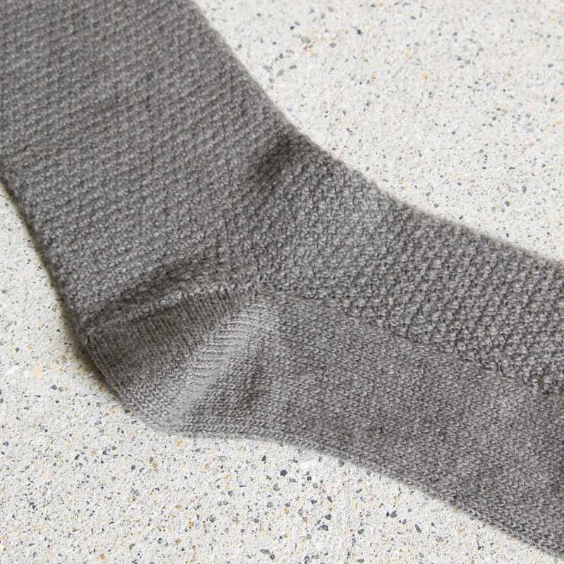 evameva(エヴァムエヴァ) wool cashmere moss stitch socks