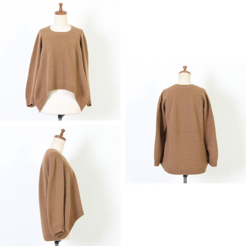 FACTORY(ファクトリー) キャメル 裾カーブセーター