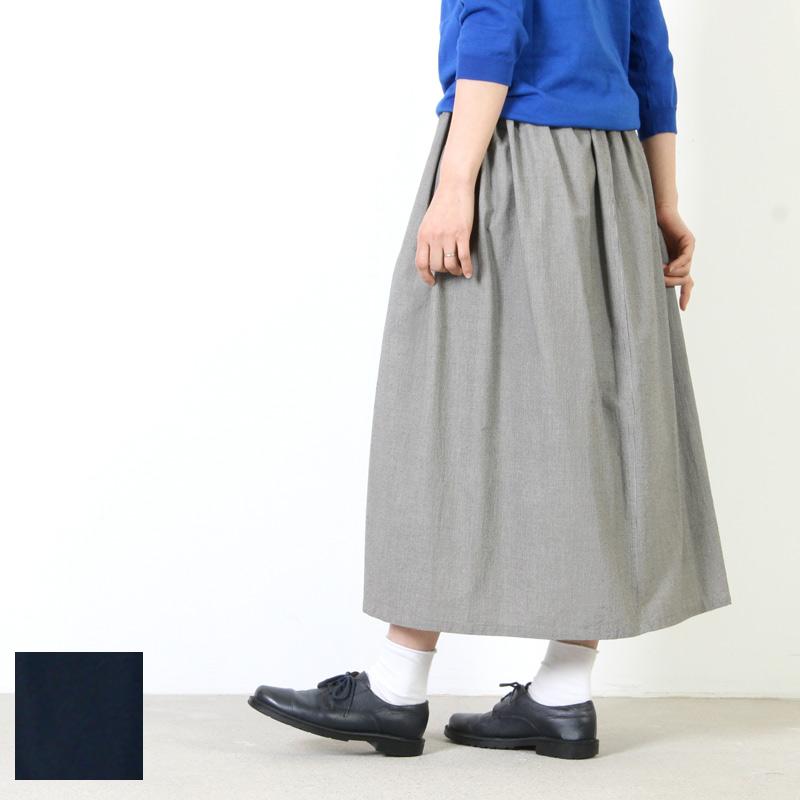 FACTORY (ファクトリー) コットン 千鳥格子ギャザースカート