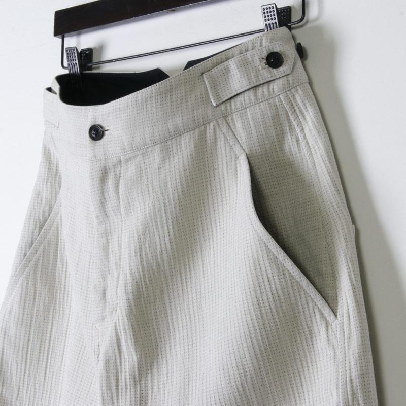 FACTORY(ファクトリー) 綿ダブルフェイス カーブ切り替えパンツ