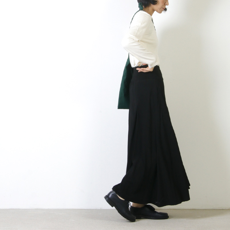 FACTORY(ファクトリー) バンブーウール タックリブスカート