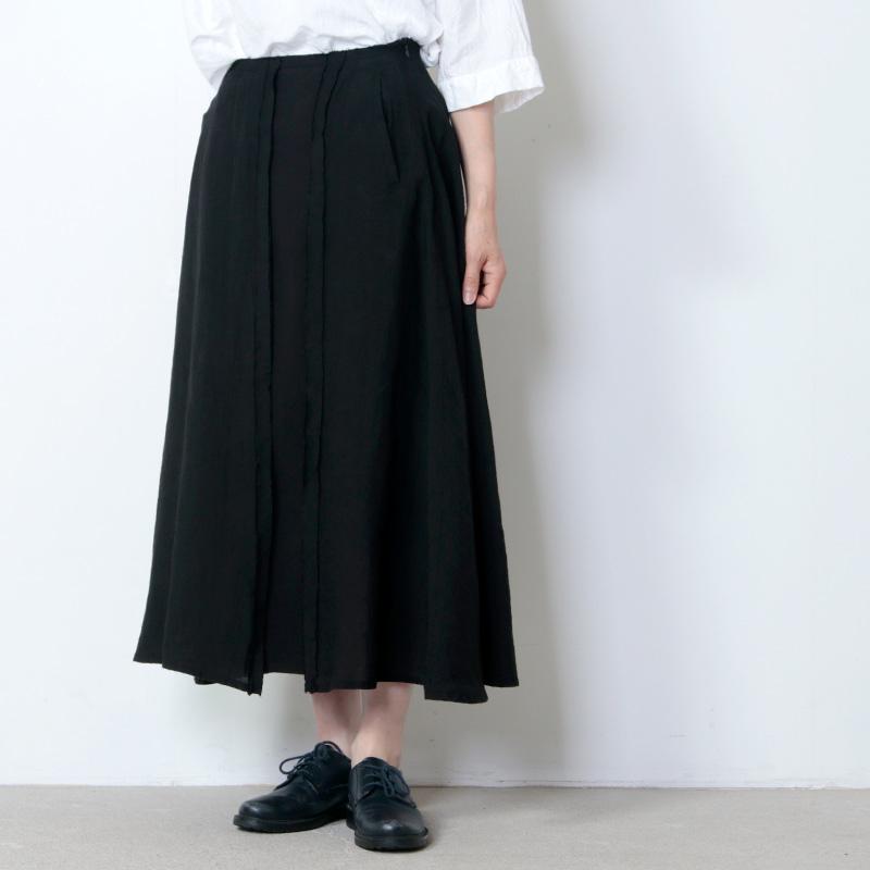 FACTORY (ファクトリー) ベルギーリネンxペルー綿フリンジスカート
