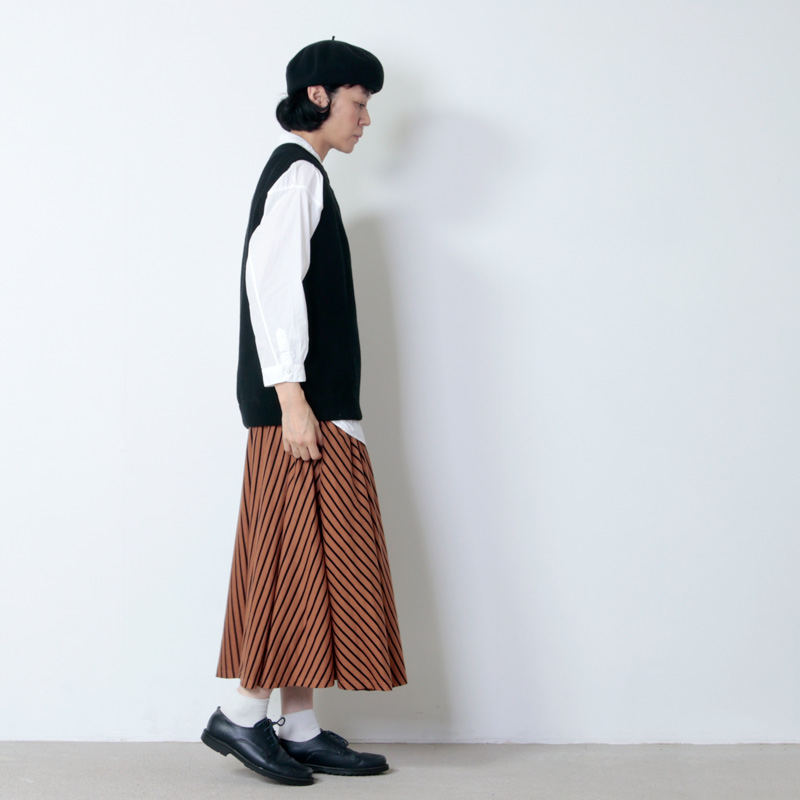 FACTORY(ファクトリー) ペルー綿ボーダーサーキュラースカート