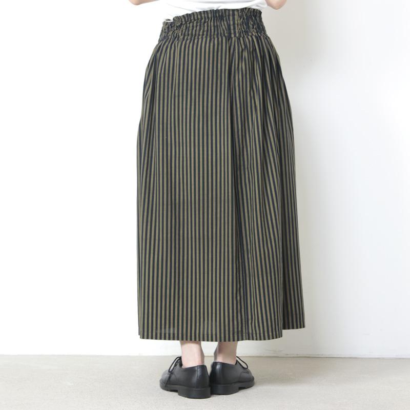 FACTORY(ファクトリー) ペルー綿ストライプギャザースカート