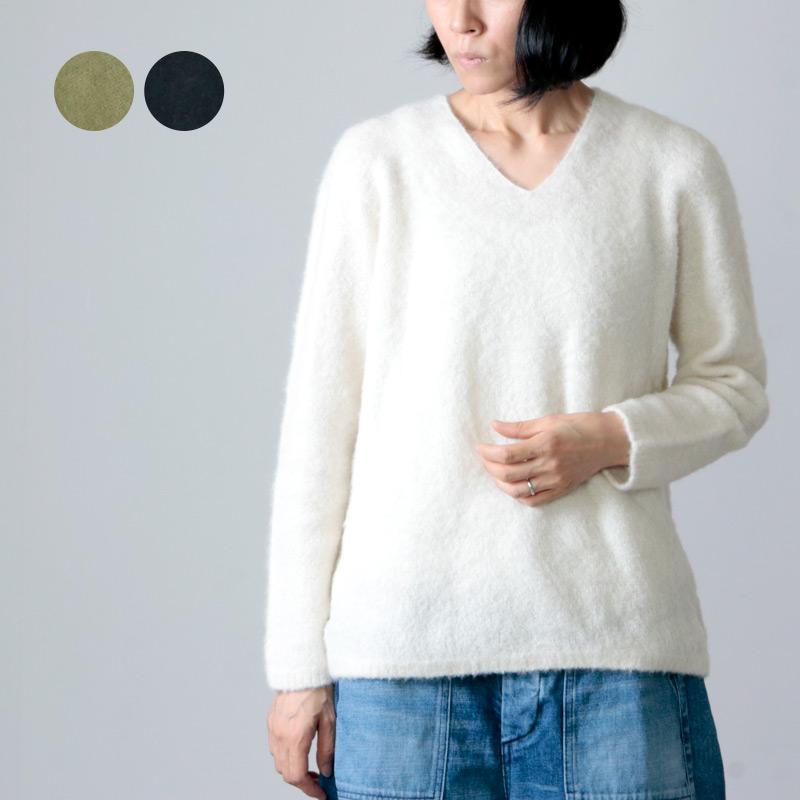 FACTORY (ファクトリー) アルパカシルク タムタムVネックセーター