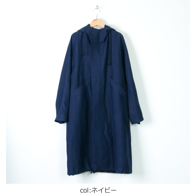 FACTORY(ファクトリー) 綿麻 朱子織モッズコート