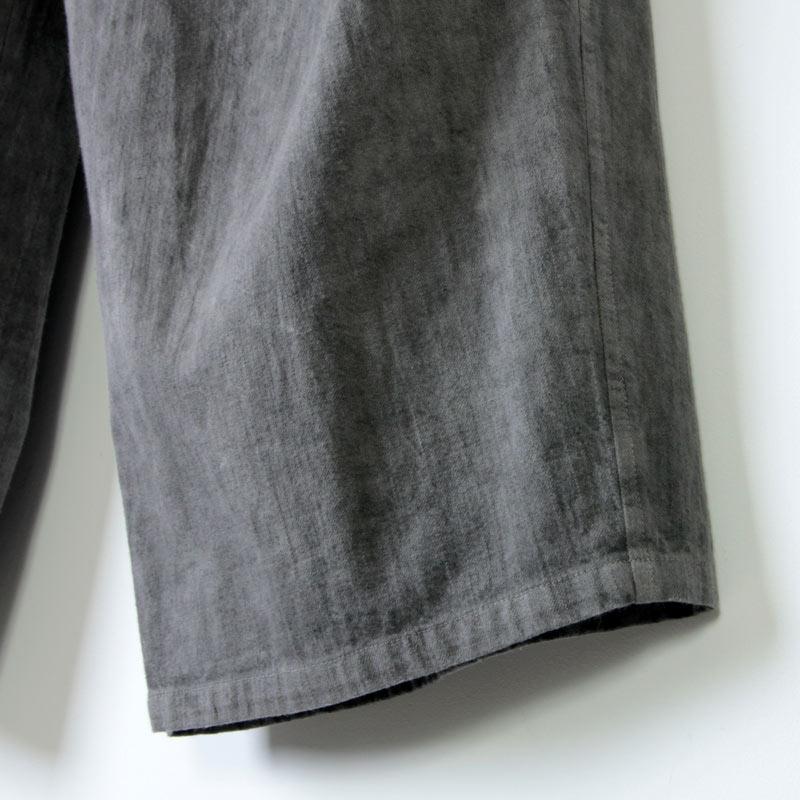 FACTORY(ファクトリー) 綿スラブタックワイドパンツ