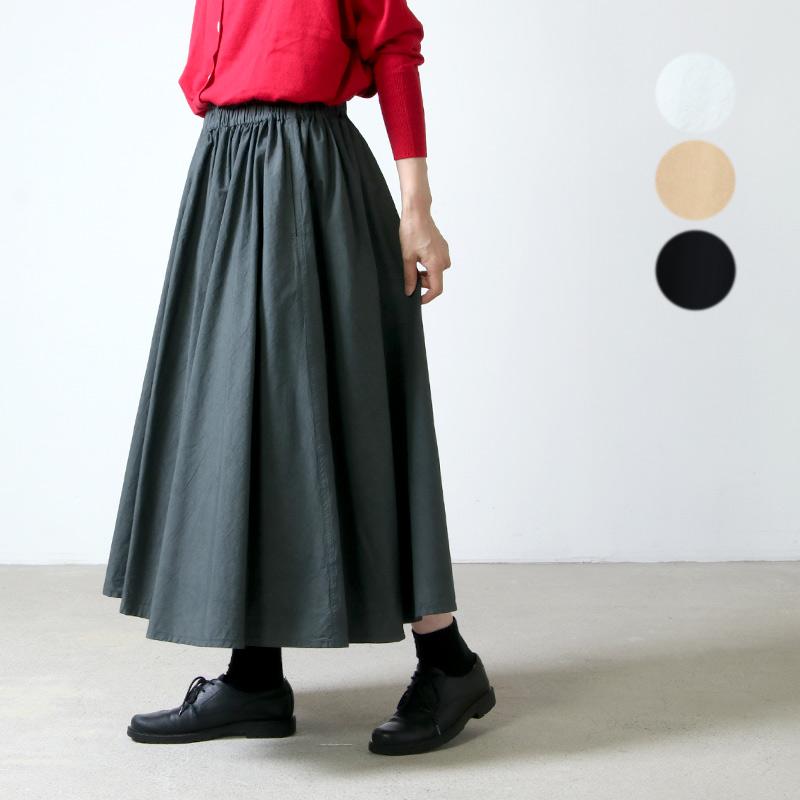 FACTORY (ファクトリー) 綿ブロード サーキュラースカート