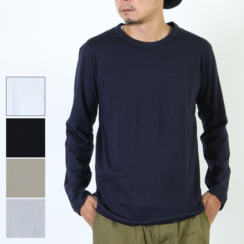 FLAMAND (フラマン) L/S WIDE NECK / ロングスリーブ カットソー