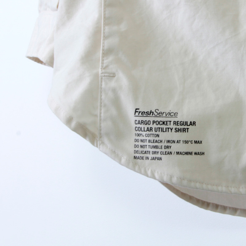 Fresh Service(フレッシュサービス) CARGO POCKET REGULAR COLLAR UTILITY SHIRT