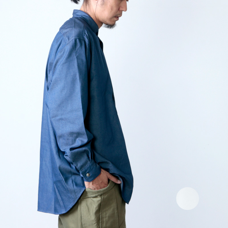 FUJITO (フジト) B/S Stand Collar Shirt / ビッグシルエットスタンドカラーシャツ