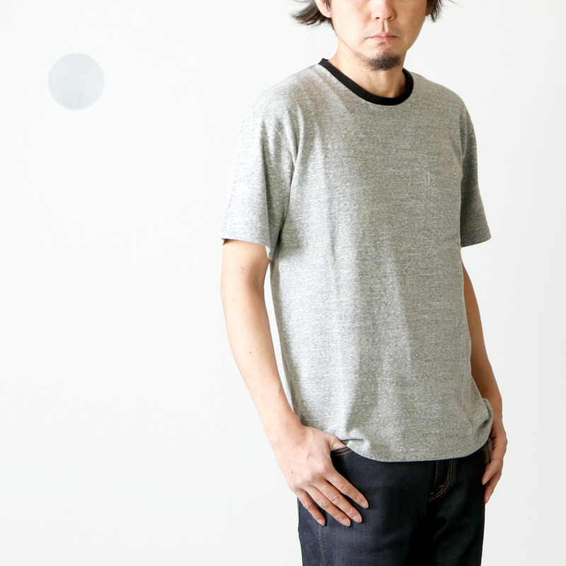 FUJITO (フジト) C/N Pocket T-Shirt / クルーネックポケットTシャツ