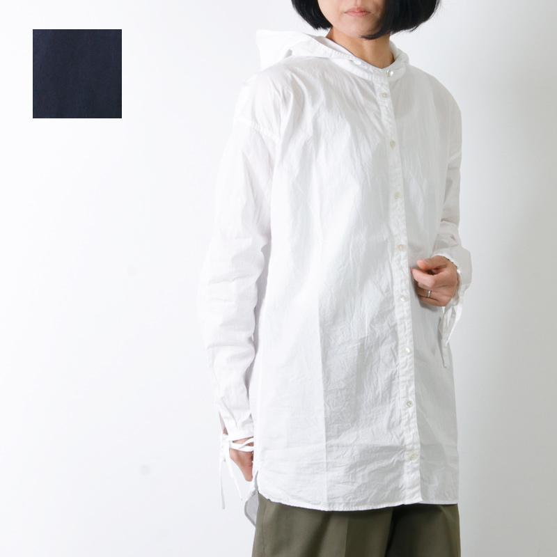 Gauze (ガーゼ) ブロードクロスコットン フードシャツ