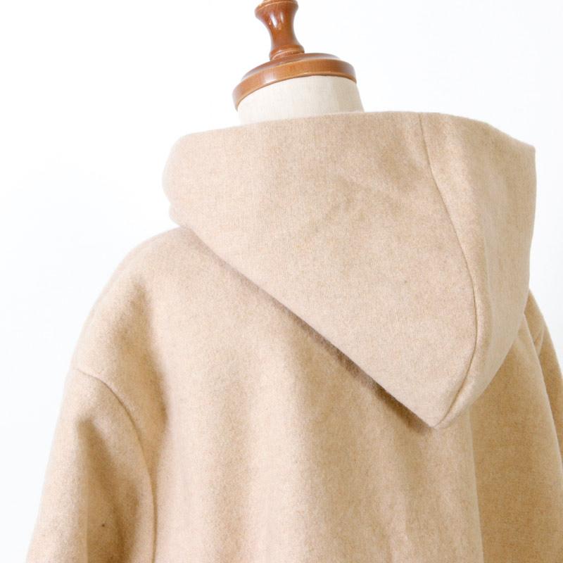 Gauze(ガーゼ) 縮絨ウール リバーシブルフードコート