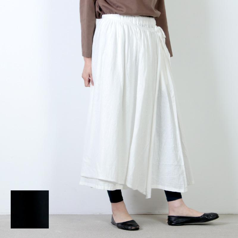 Gauze (ガーゼ) コットンリネンオーバーラップスカート