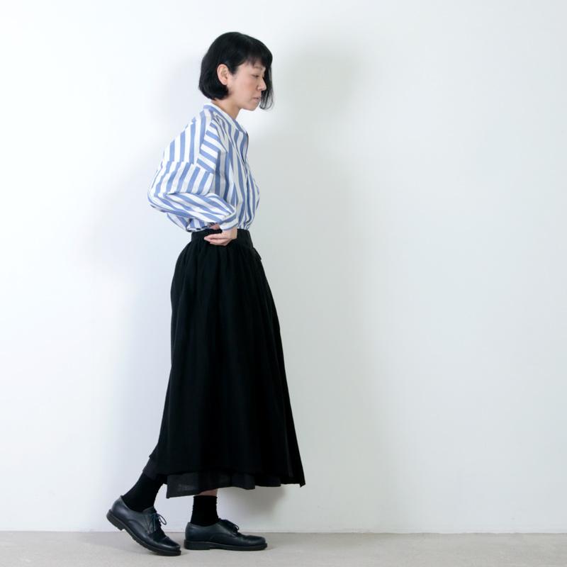 Gauze(ガーゼ) コットンリネンオーバーラップスカート