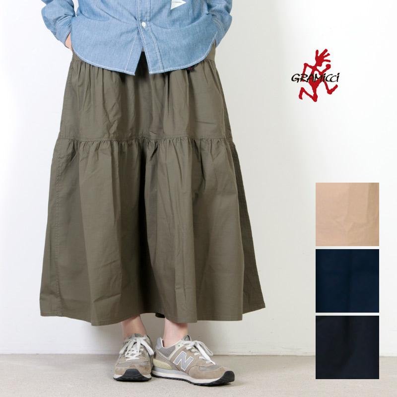 GRAMICCI (グラミチ) WEATHER TIERED SKIRT / ウェザー ティアードスカート