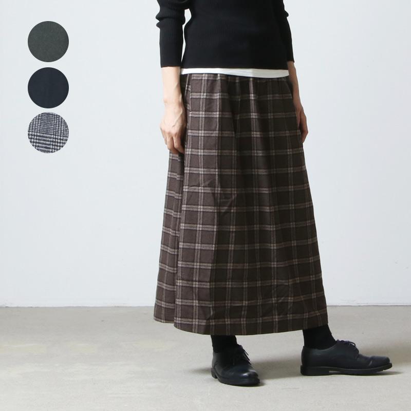 GRAMICCI (グラミチ) WOOL BLEND LONG FLARE SKIRT / ウールブレンドロングスカート