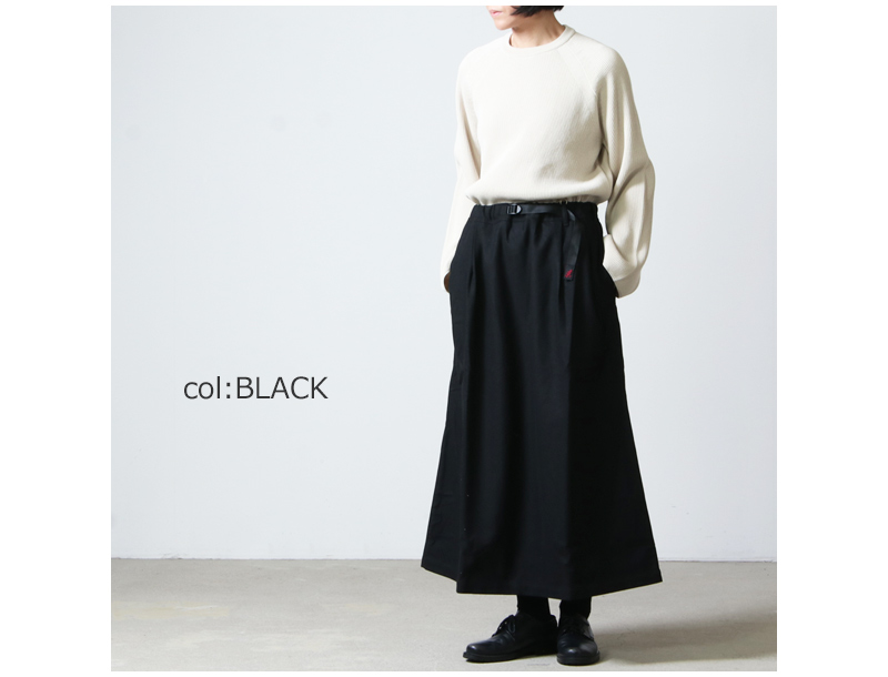 GRAMICCI(グラミチ) WOOL BLEND LONG FLARE SKIRT
