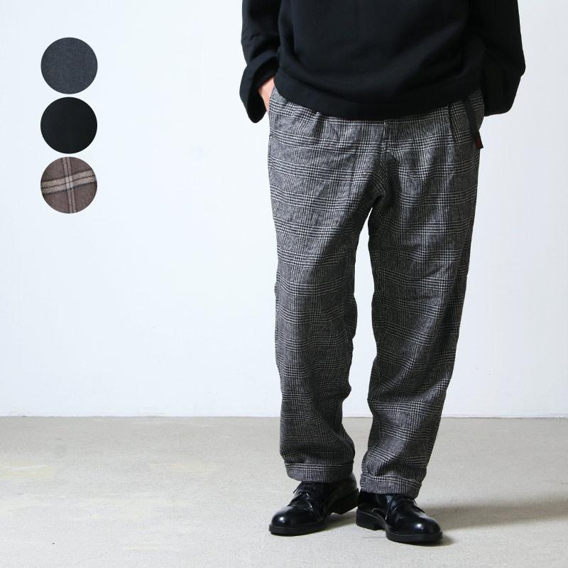 GRAMICCI (グラミチ) WOOL BLEND TUCK TAPERED PANTS / ウールブレンドタックテーパードパンツ