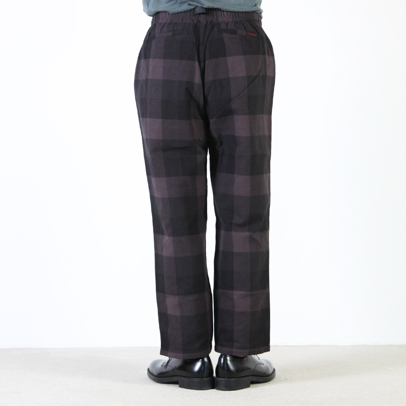 GRAMICCI(グラミチ) NEL CHECK LOOSE TAPERED PANTS