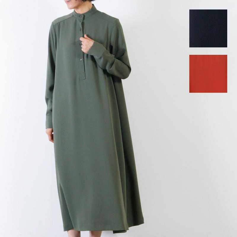 Graphpaper (グラフペーパー) Satin Band Collar Flare Dress / サテンバンドカラーフレアドレス