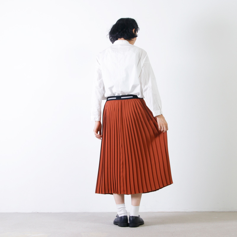 Graphpaper(グラフペーパー) Satin Pleats Skirt