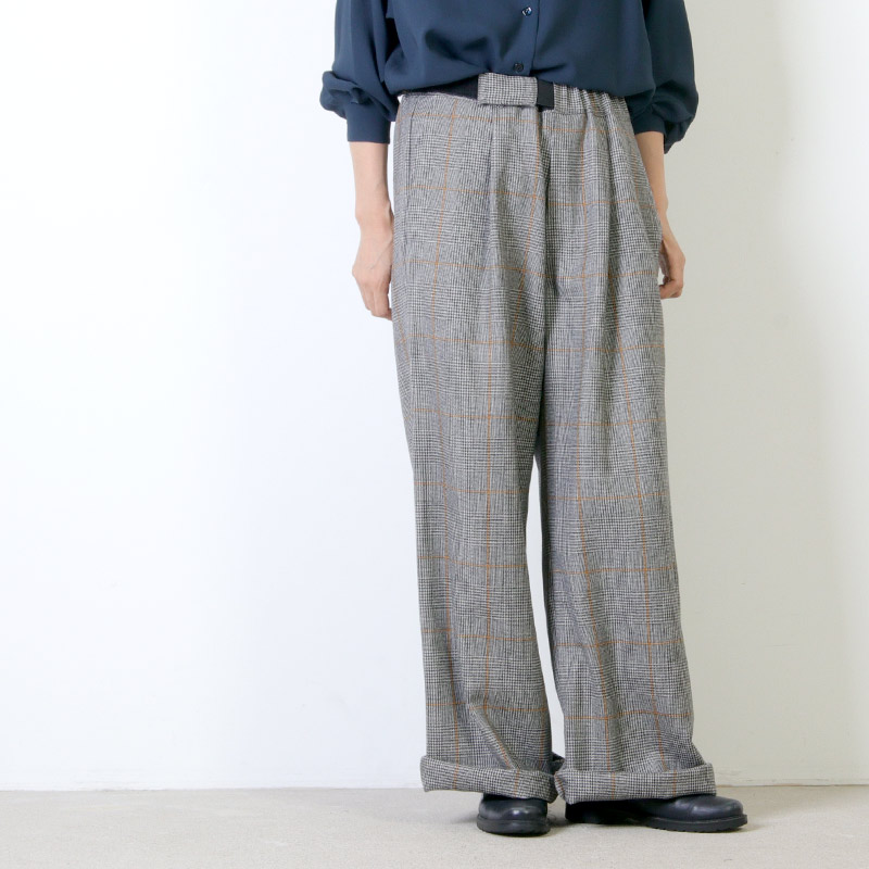 Graphpaper(グラフペーパー) Glencheck Wide Cook Pants