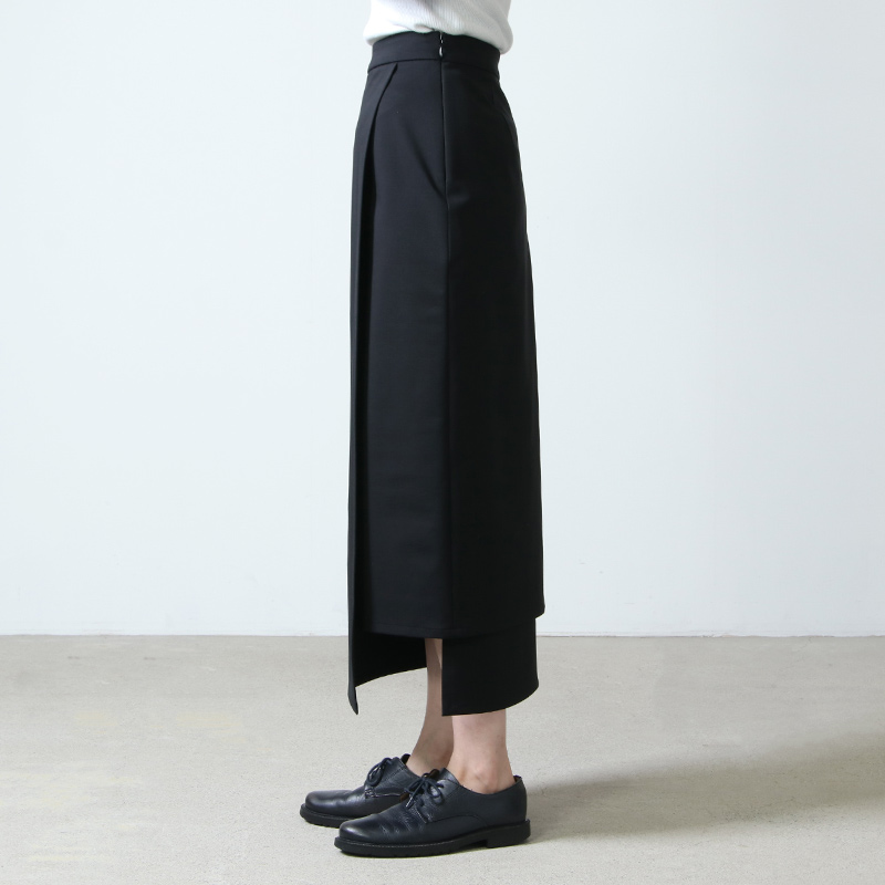 Graphpaper(グラフペーパー) Compact Ponte Wrap Skirt