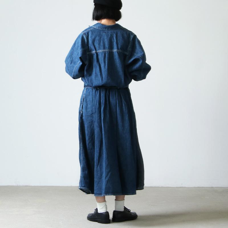 Graphpaper(グラフペーパー) Belted Denim Dress Fade