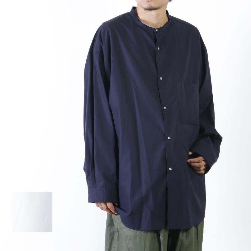 Graphpaper (グラフペーパー) Band Collar Big Sleeve Shirt / バンドカラー ビッグスリーブシャツ