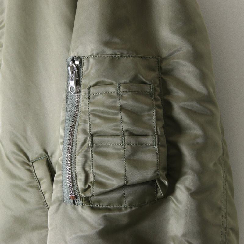 Graphpaper(グラフペーパー) Nylon Twill Boa Collar MA-1
