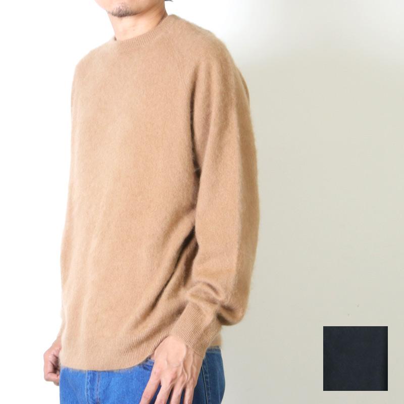 Graphpaper (グラフペーパー) Cashmere Shaggy Crew Neck Knit / カシミヤシャギー クルーネックニット