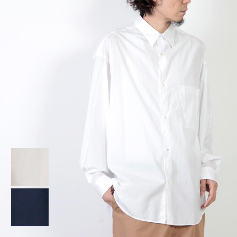 Graphpaper (グラフペーパー) Broad Oversized L/S Shirt / ブロードオーバーサイズロングスリーブシャツ