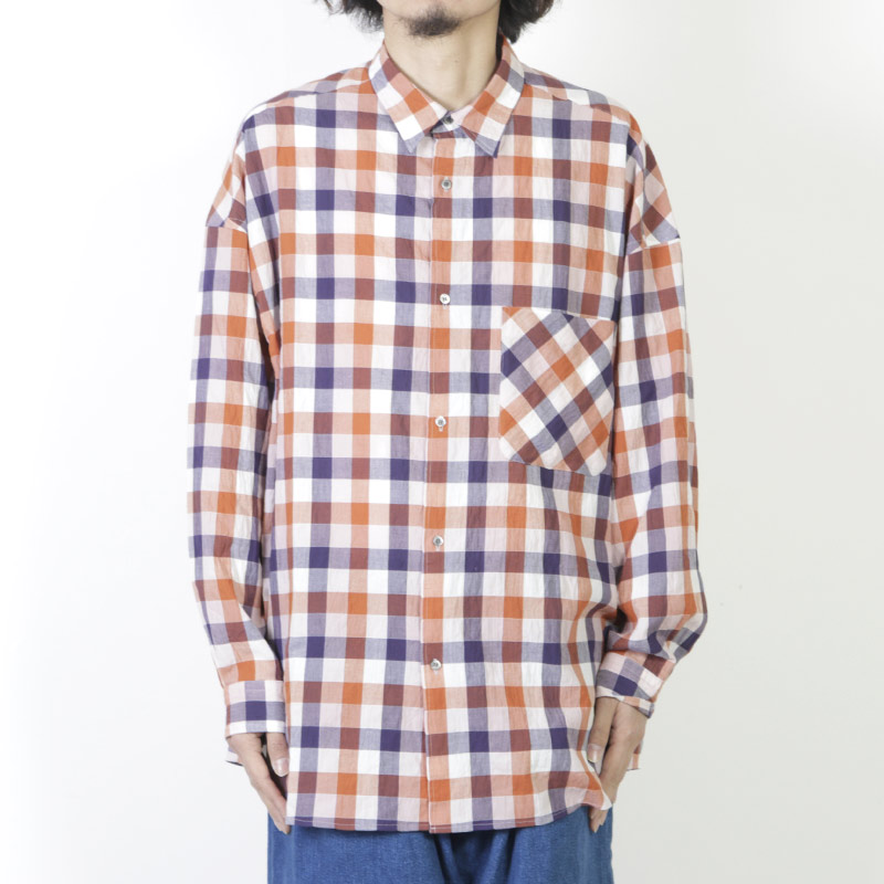 Graphpaper(グラフペーパー) Check Oversized Shirt