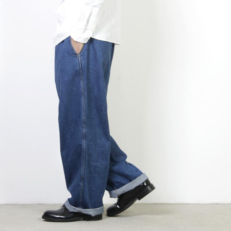 Graphpaper (グラフペーパー) Denim Baggy Pants BL / デニムバギーパンツ