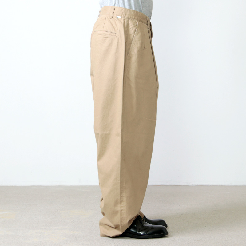 Graphpaper(グラフペーパー) Military Cloth 2 Tucks Pants
