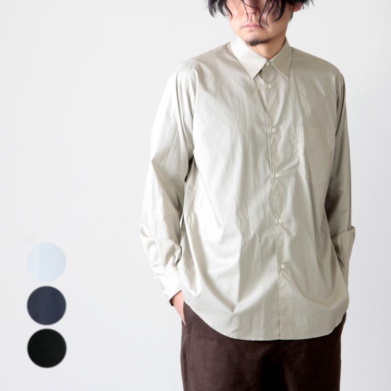 Graphpaper (グラフペーパー) Broad L/S Regular Collar Shirt / ブロードレギュラーカラーシャツ