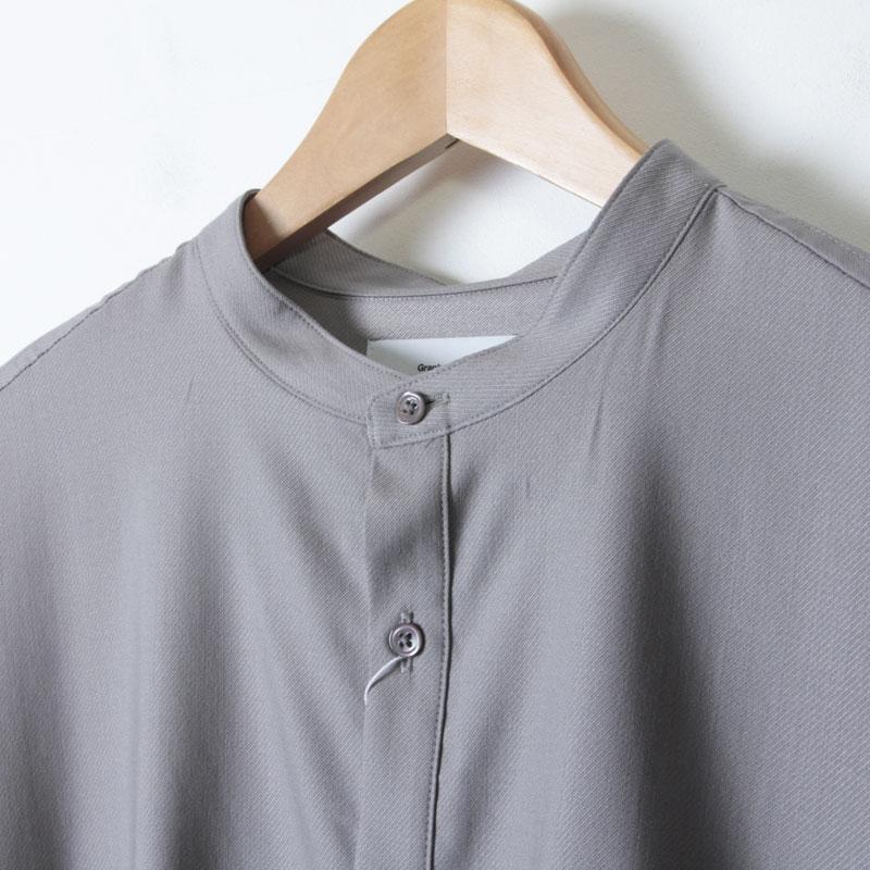 Graphpaper(グラフペーパー) Silk Wool Stand Collar York Short Sleeve Shirt