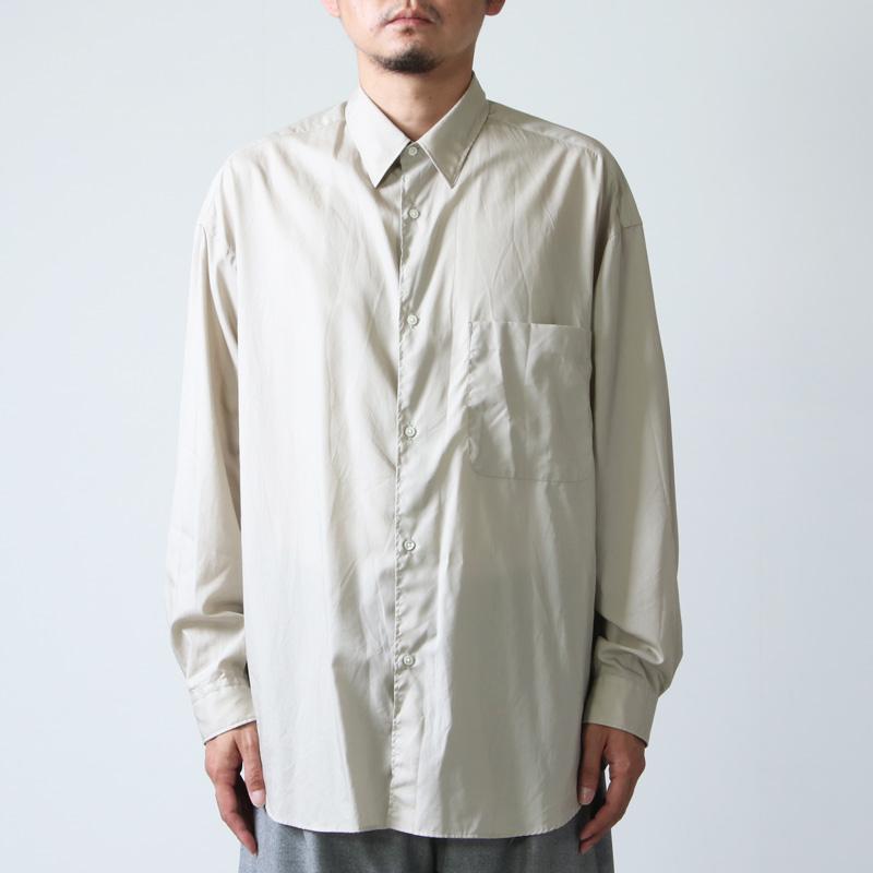 Graphpaper(グラフペーパー) Broad L/S Oversized Regular Collar Shirt